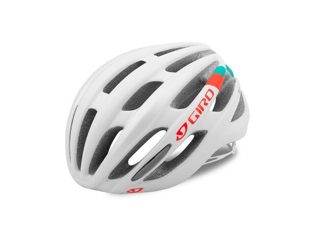 Giro Saga Helmet mat white/turq/vermillion